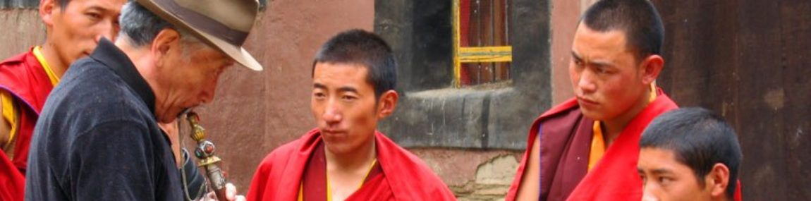 Music in Sakya monastery – Tibet